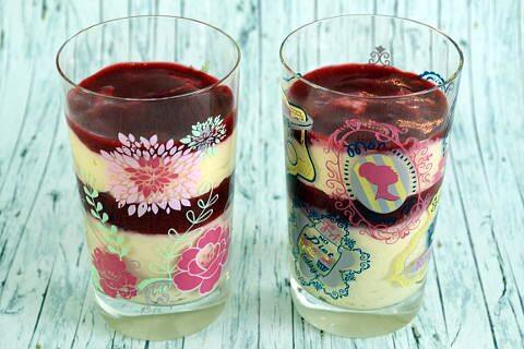 Kokosmousse Dessert im Glas
