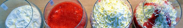 Spaghetti-Eis Spaghetti-Nachtisch-Mascarpone